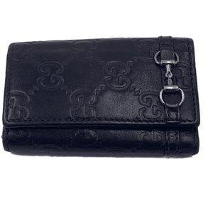 Authentic Gucci GG Black/Dark Brown Key Holder
